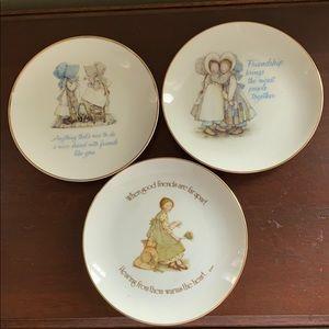 "Set of 3 Lasting Memories 6"" porcelain plates"